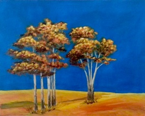 Trees in Blue & Gold
